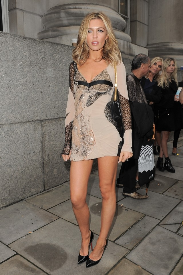 Um, Abbey Crouch In Shortest Dress EVER At London Fashion Week?