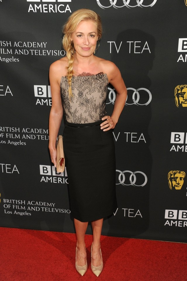 Cat Deeley Is Lovely In Lace At Bafta TV Tea Party