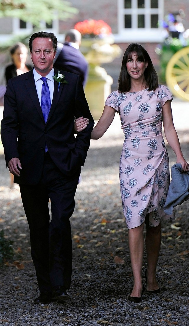 David And Samantha Cameron Get Glam For Her Half-Sister's Wedding