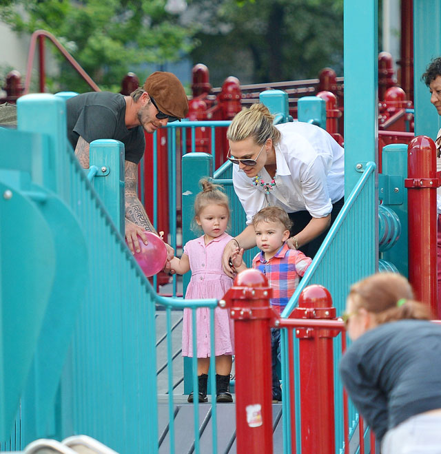 david beckham molly sims park play date