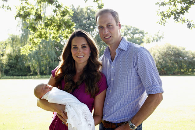 Duke And Duchess Of Cambridge Reveal Prince George's Christening Date
