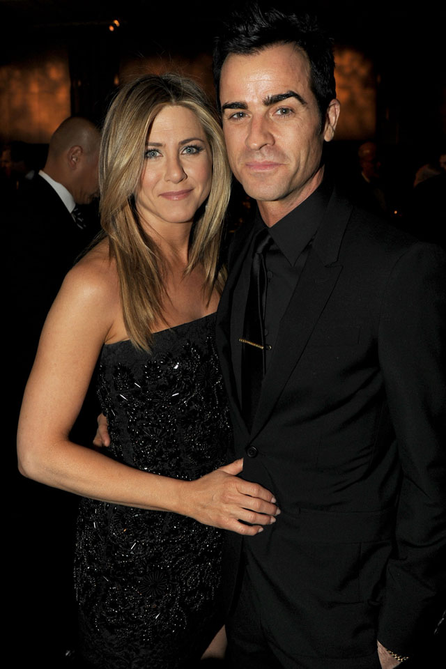jennifer aniston bans justin theroux's waxwork throat collection