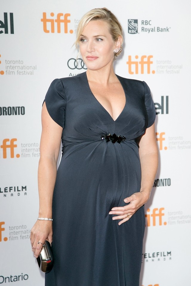 Kate Winslet And Her Baby Bump Wow At Labor Day Premiere For Toronto Film Festival