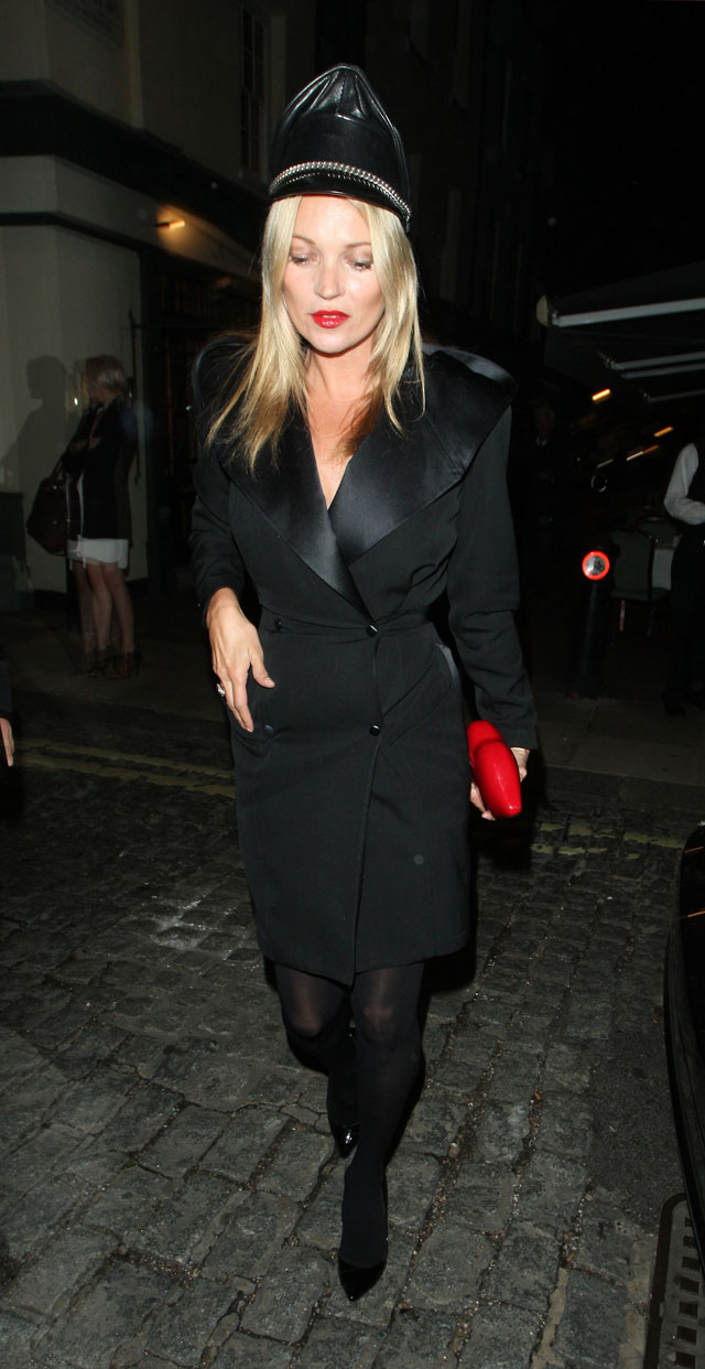 Was Kate Moss Channelling A Sexy Chauffeur At Another Magazine Party?