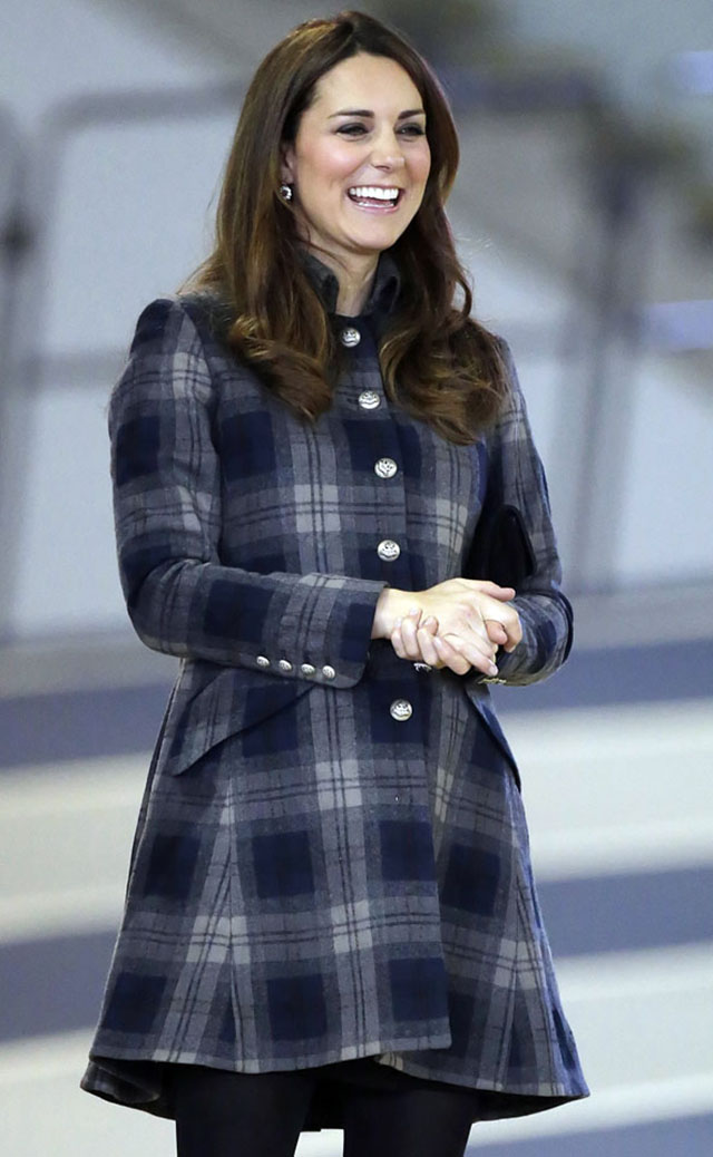 Duchess Of Cambridge Wears Tartan Coat To Church In Balmoral, But Where's Prince George?