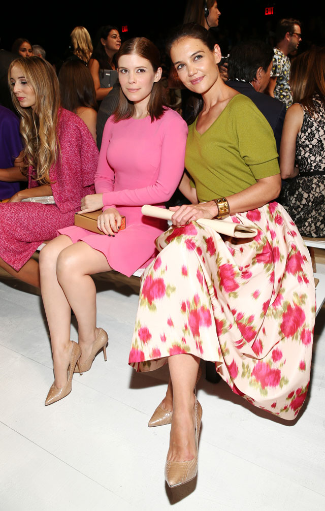 Katie Holmes Is Floral Fabulous On The F-Row At New York Fashion Week