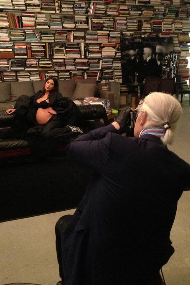 karl lagerfeld shoots kim kardashian for CR fashion book