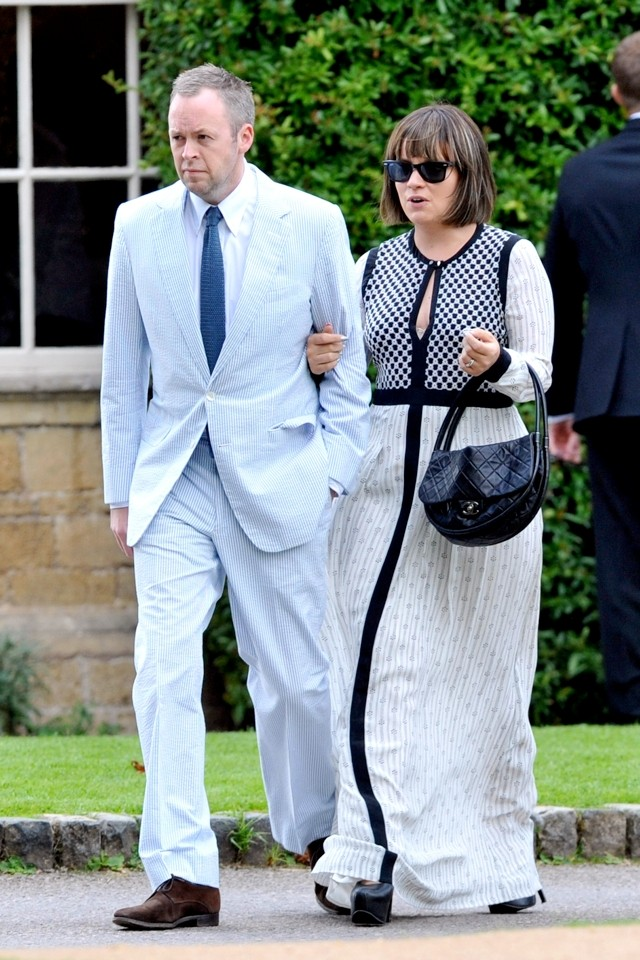 Lily Allen's Wedding Guest Style! Star Don's Monochrome Maxi To See Millie Mackintosh Marry
