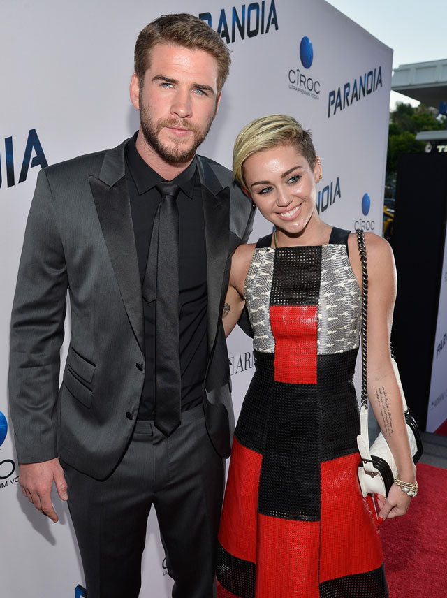 miley cyrus and chris hemsworth split