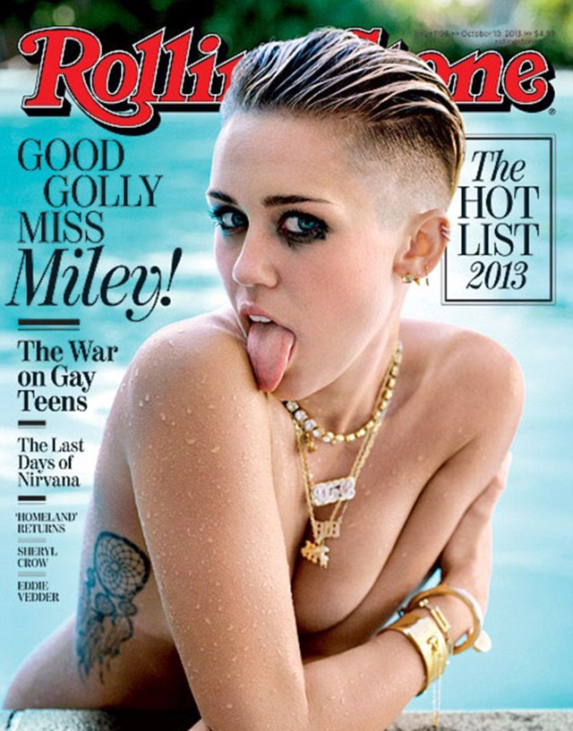 miley cyrus goes topless for rolling stone magazine