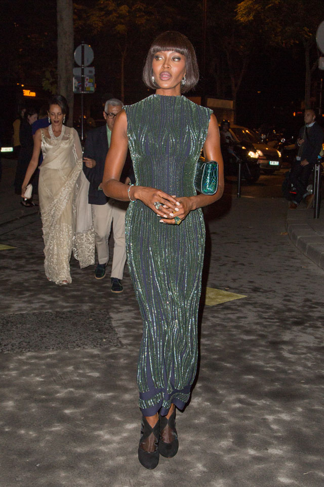 Ooh La La: Naomi Campbell Rocks Glitzy Column Gown For Museum Party In Paris