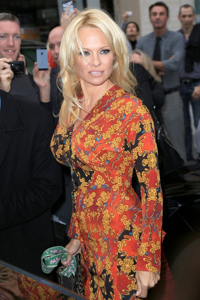 Pamela Anderson Causes A Stir At Vivienne Westwood Show During Paris Fashion Week