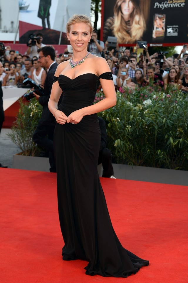Scarlett Johansson Does Hollywood Glamour At Venice Film Festival