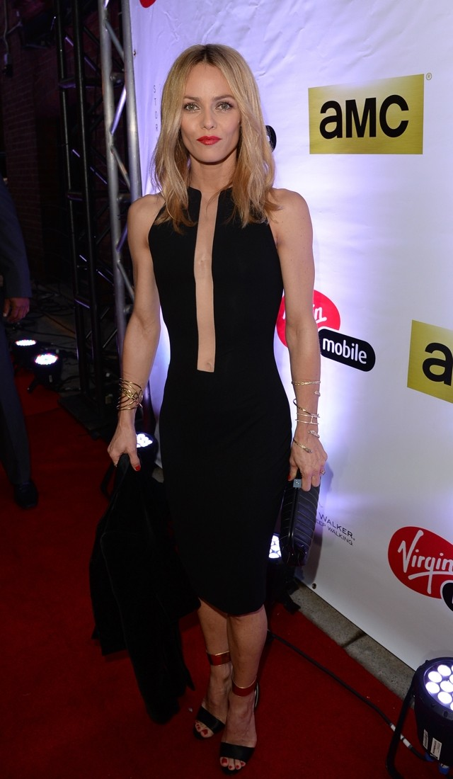 Vanessa Paradis Shows Johnny What He's Missing In Cutout Dress At Toronto Film Festival