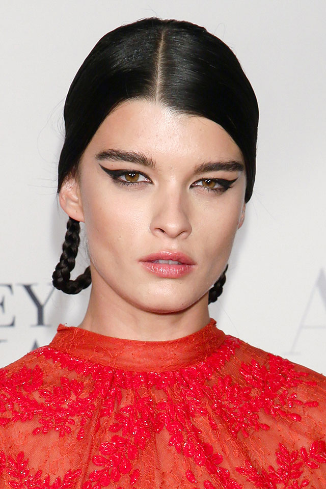 Crystal Renn Stuns In Red Lace Dress At American Ballet Theatre Opening Night