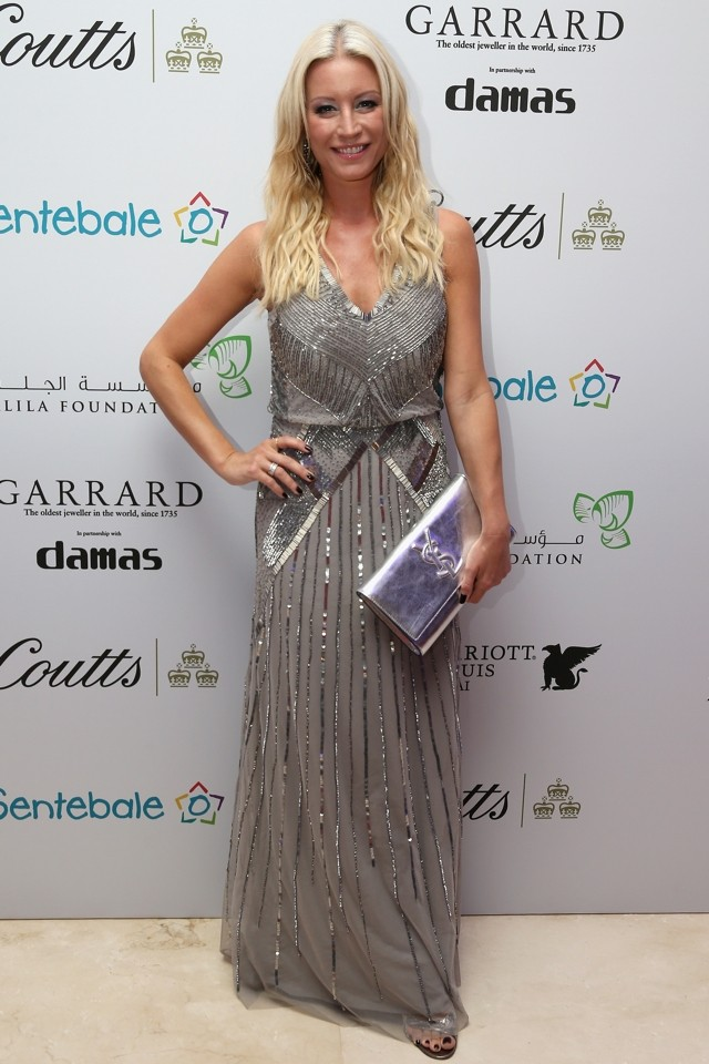 Denise Van Outen Is Stunning In Silver Gown For Prince Harry's Sentebale Charity Dinner