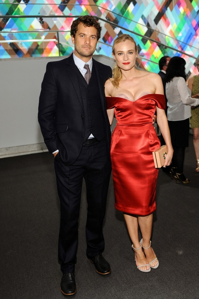Diane Kruger Jumps On The Cleavage Bandwagon In Stunning Scarlet Dress