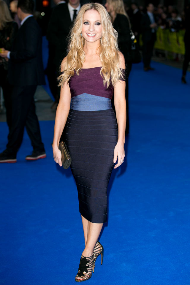 Wow! Downton's Joanne Froggatt Wears Colour-Block Bodycon To Filth Premiere