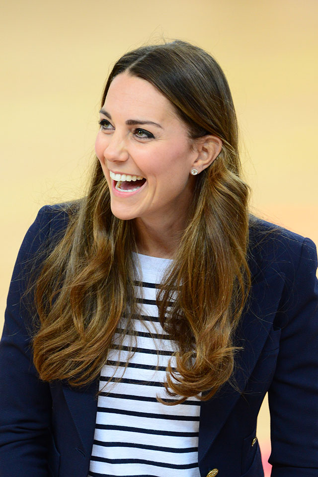 Kate Middleton Does Breton Stripes For Trip To The Olympic Park