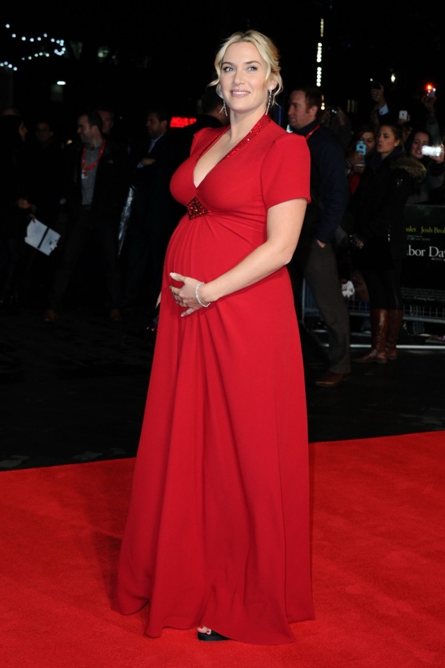 Red Alert! Kate Winslet And Her Baby Bump WOW At Labor Day London Premiere