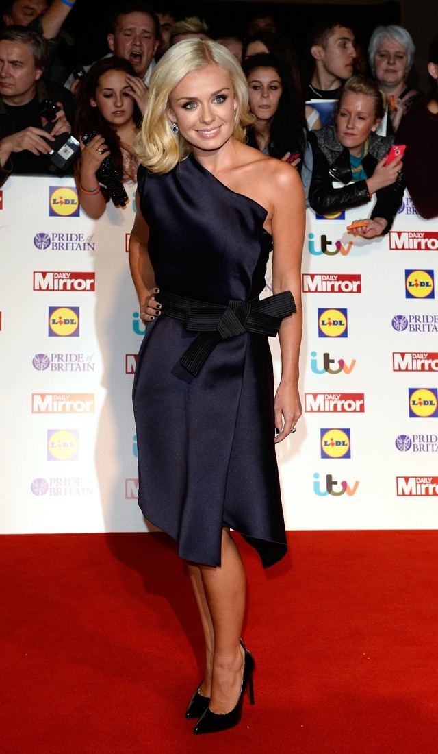 Katherine Jenkins Ditches Long Gown And Shows Off Pins At Pride Of Britain
