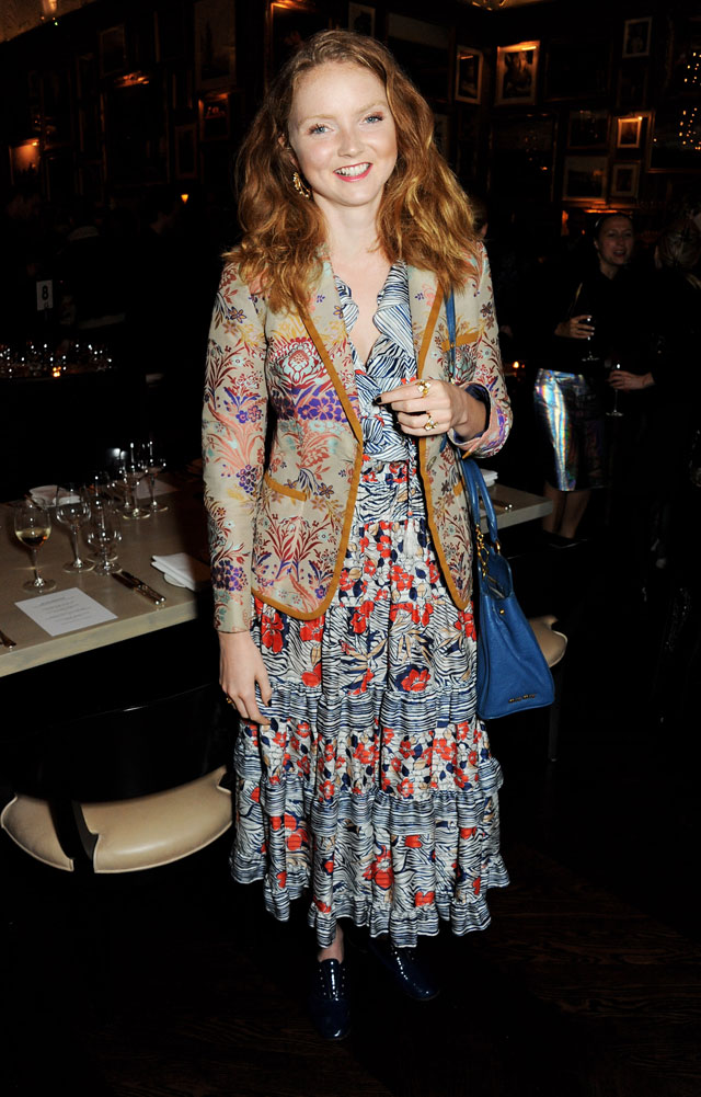 Lily Cole Shows The Print Maxi Dress Isn't Just For Summer At Nowness Dinner
