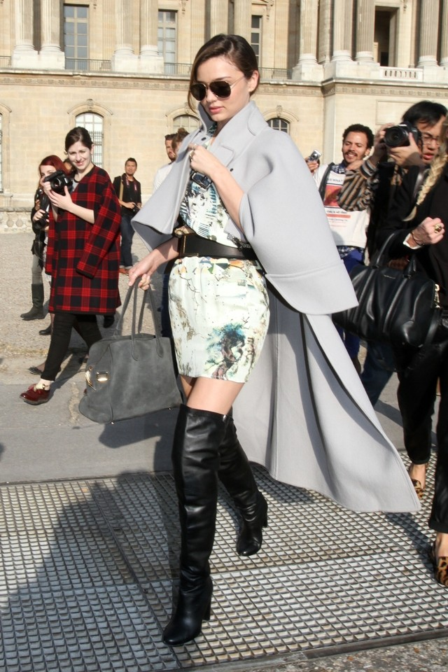 Killer Boots, Man! Miranda Kerr Does Sexy Thigh-Highs During Paris Fashion Week