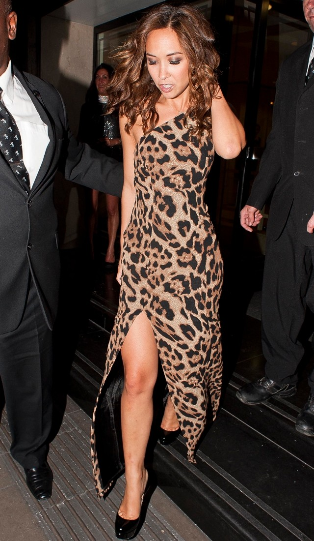 Animal Instinct! Myleene Klass Does Leopard-Print Dress For Pride Of Britain Awards