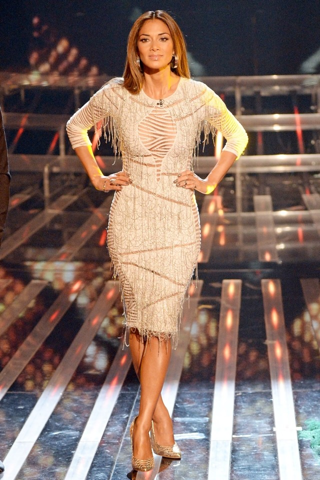 Nicole Scherzinger Wows In Sheer White Dress On The X Factor
