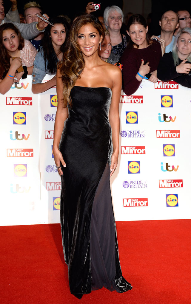 Nicole Scherzinger Is Stunning In Velvet Strapless Gown For Pride Of Britain Award