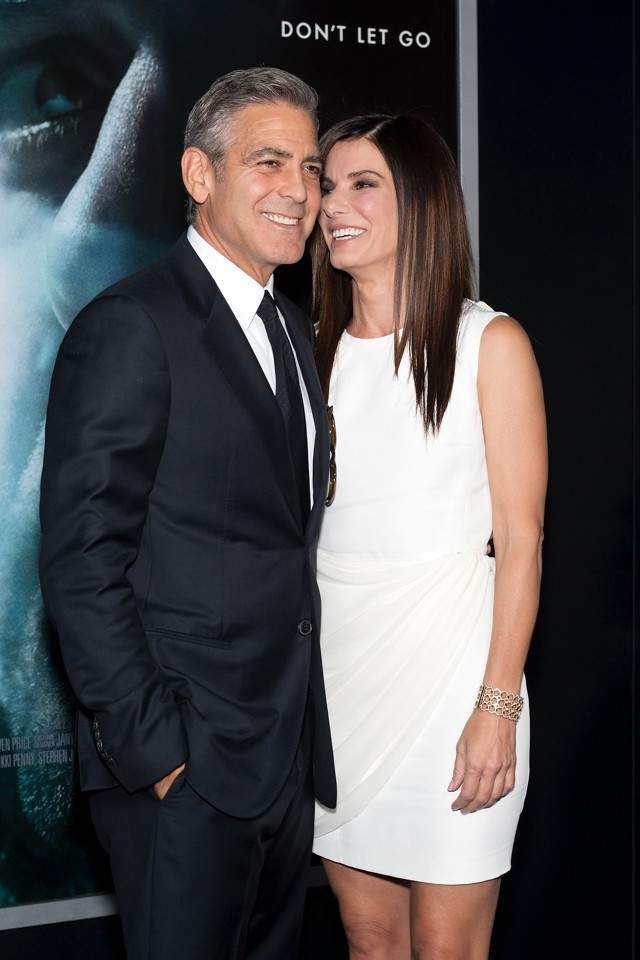 George Clooney And Sandra Bullock Cosy Up At Gravity NY Premiere (And She's Stunning In White Mini)