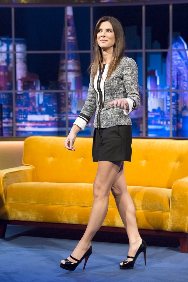 Perfect Pins! Sandra Bullock Does Short Shorts For Jonathan Ross