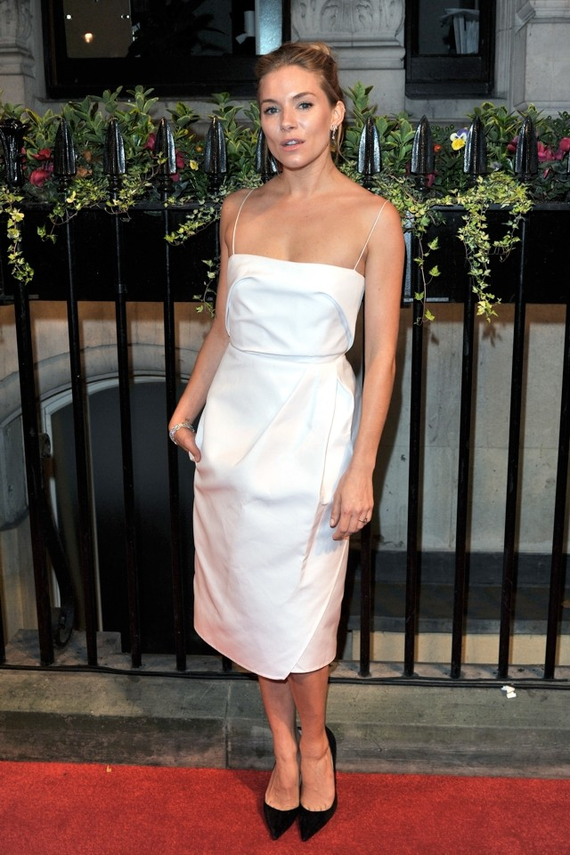 Sienna Miller Wows In White At BFI Gala Dinner