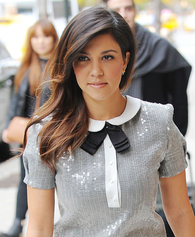 Kourtney Kardashian Sparkles In Silver Mini Dress On New York Visit