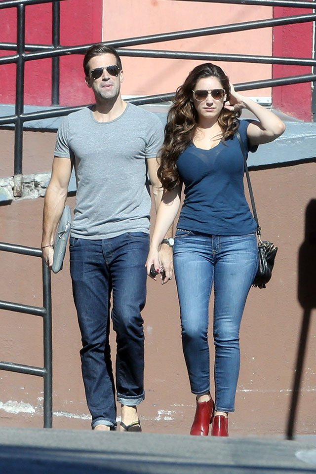 Kelly Brook And Gethin Jones Spotted On Breakfast Date In LA