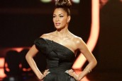 Black Magic: Nicole Scherzinger  Is Spellbinding In Black Fishtail Dress For X Factor Semi-Finals