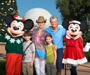 Michael Douglas and family