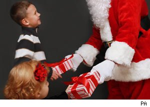 Father Christmas, presents to children