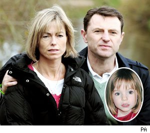 Kate and Gerry McCann and Madeleine (inset)