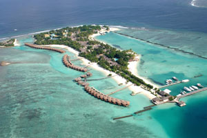Maldives, view of the island, Sheraton