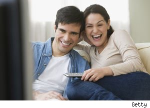 Semi detached parent: what is normal, couple watching television, TV