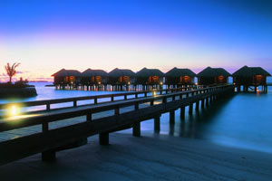 Maldives, rooms on stilts
