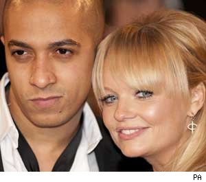 Emma Bunton with Jade Jones