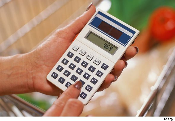 calculator, household budget