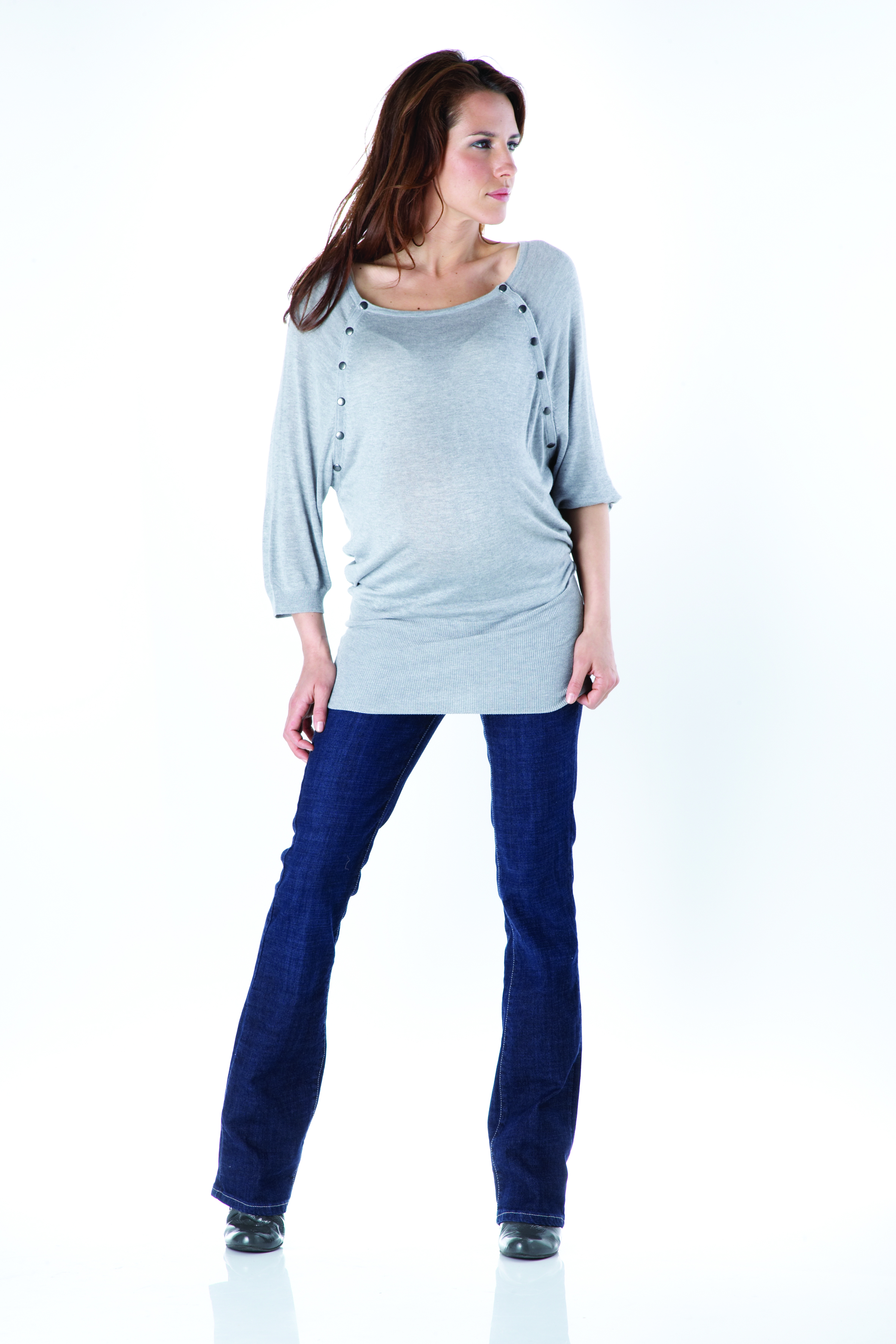 Seraphine grey breastfeeding jumper