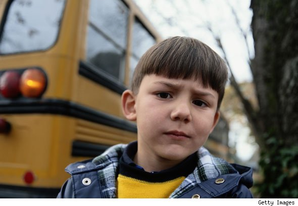 Frightened of going to school by bus