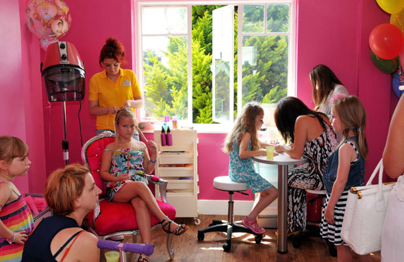 Beauty parlour opens for babies and girls under 13