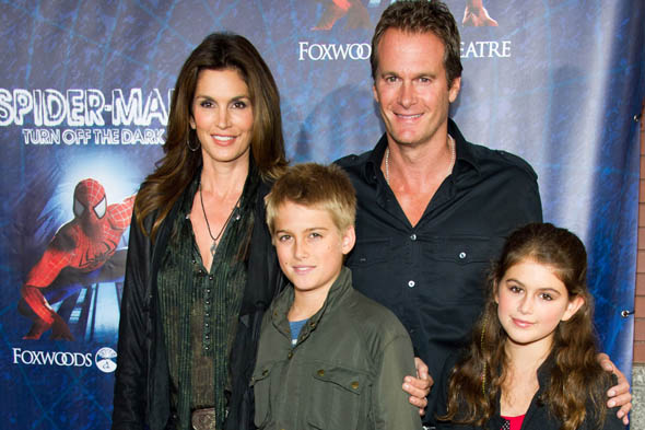 Cindy Crawford's NINE year old daughter goes out caked in make up
