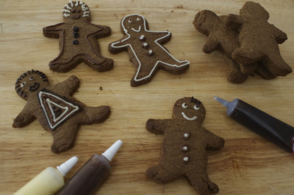 After school snacks: Gingerbread men