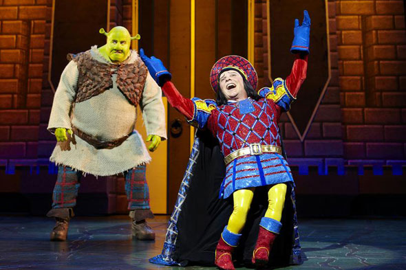 Lord Farquaad tears up the stage